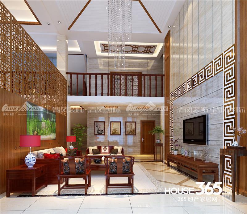 清风装饰设计:盛泽中式别墅设计图