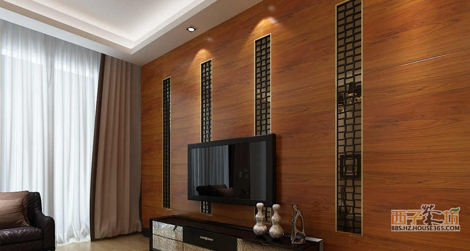 君澜木制背景墙客厅电视背景墙效果图实木背景墙木饰