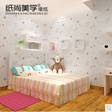 纸尚美学儿童房墙纸 星座图案 s3829环保无纺布墙纸卧室背景壁纸