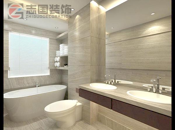 卫生间浴缸花洒效果图