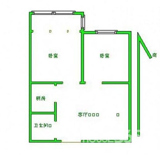 广博苑 精装两房 业主自设装修 满二无税 两房朝南阳光充足采光好