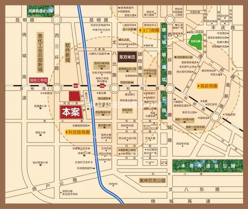 东方米兰国际城区位图