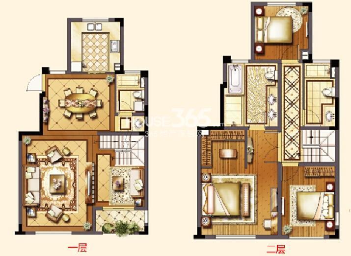 红星国际生活广场洋房D2户型图五室两厅两卫约142㎡