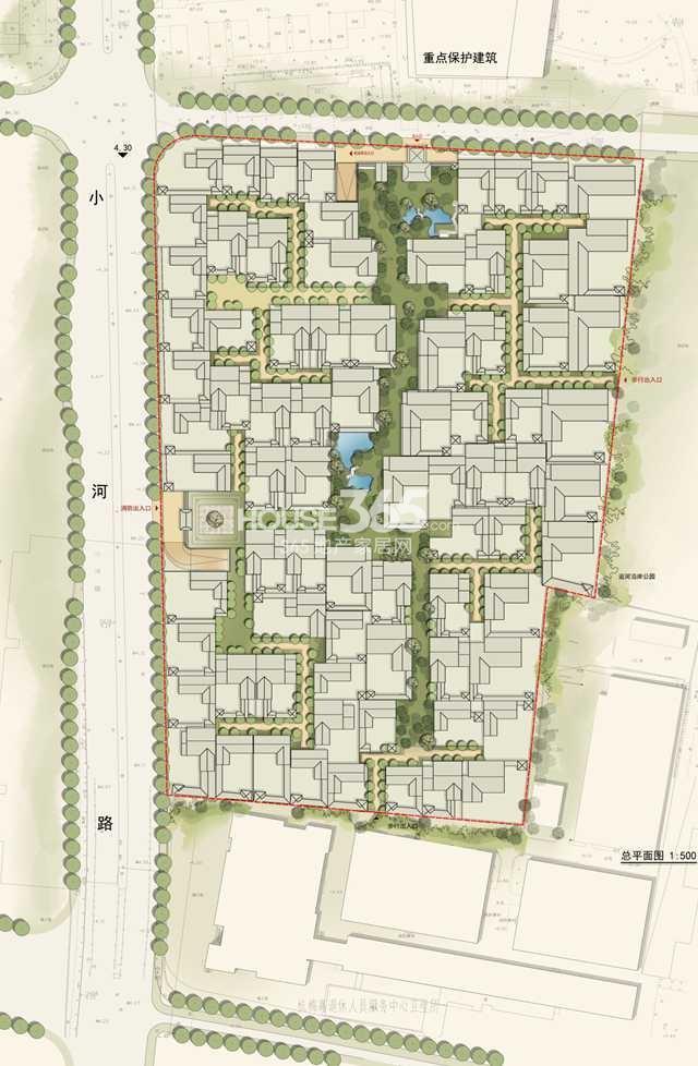 绿城江南里项目总平面图