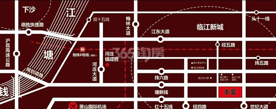 东裕华庭交通图