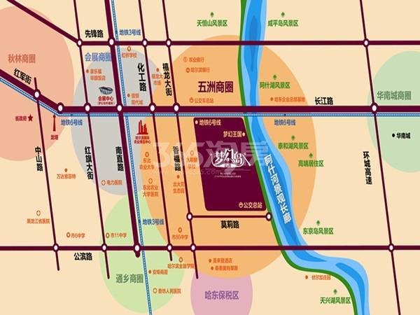 汇智五洲城交通图