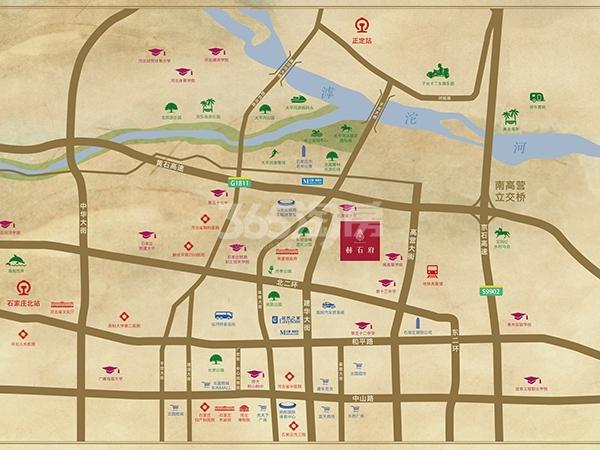 赫石府交通图