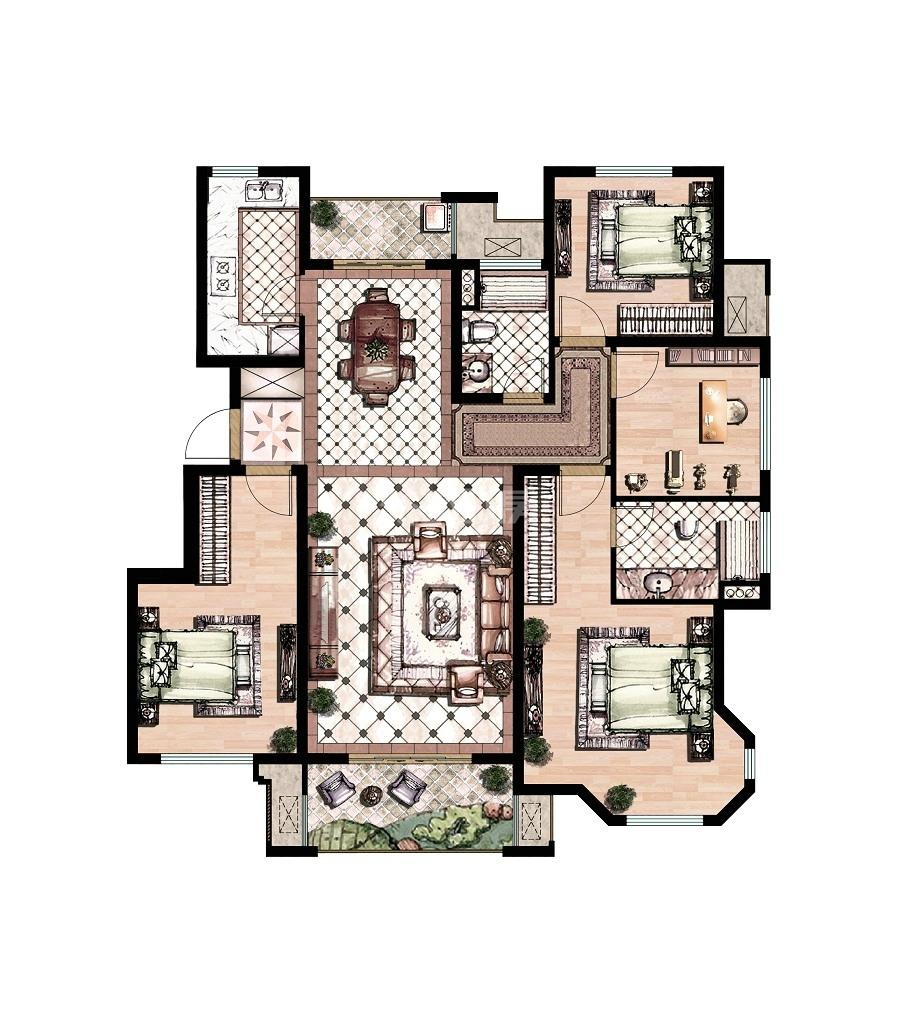 丝绸之路泰州广场户型图