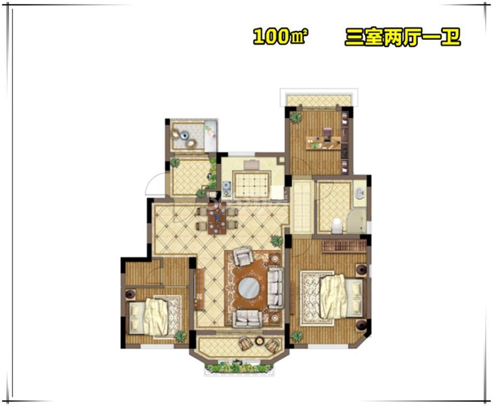 金浦御龙湾E5户型图