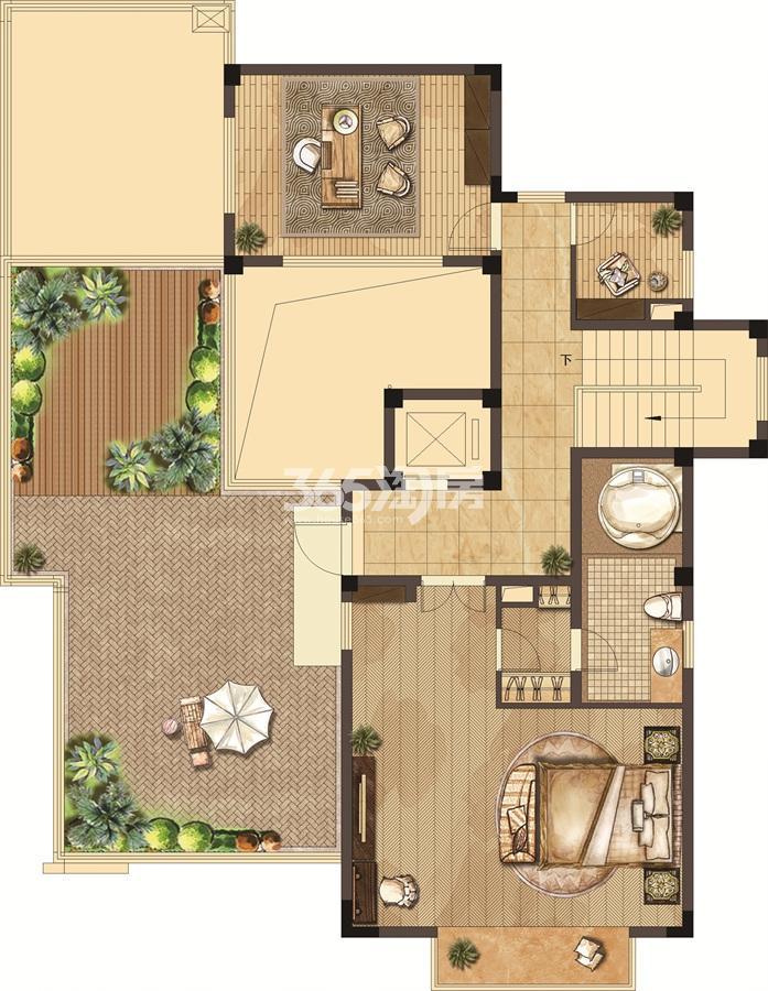 武夷绿洲沁荷苑H6三层平面图