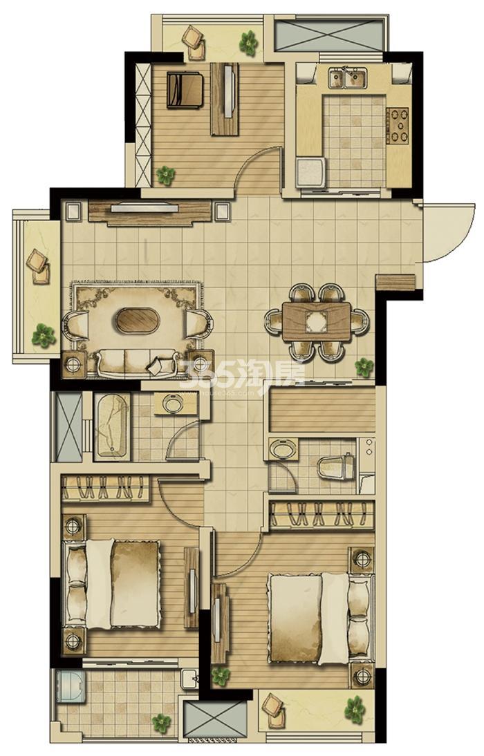 耘林生命公寓户型图
