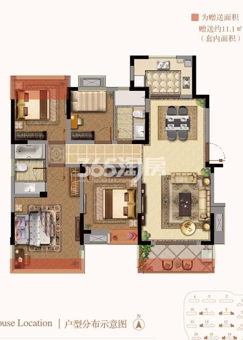 银亿东城9街区新洋房D户型图