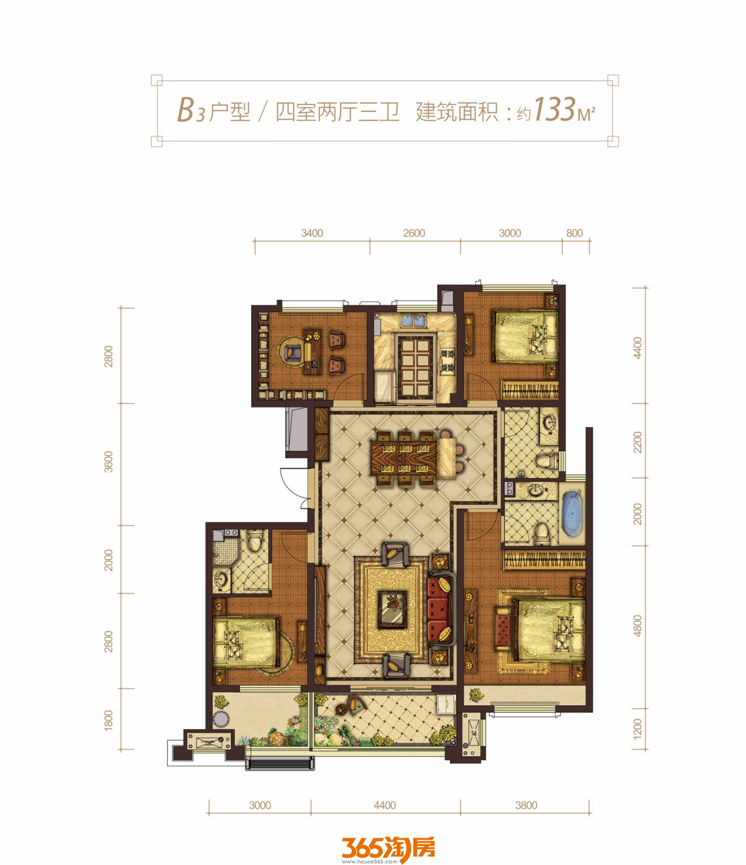 蓝光雍锦半岛B3户型图
