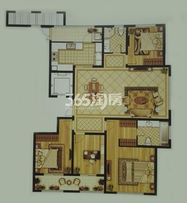 D-4四室两厅两卫户型(180㎡)