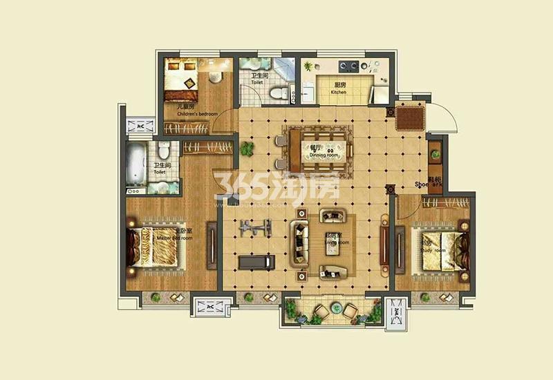 125平米 3室2厅2卫