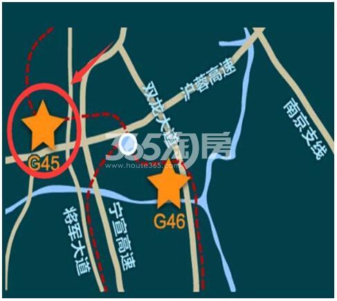 大名城·紫金九号交通图