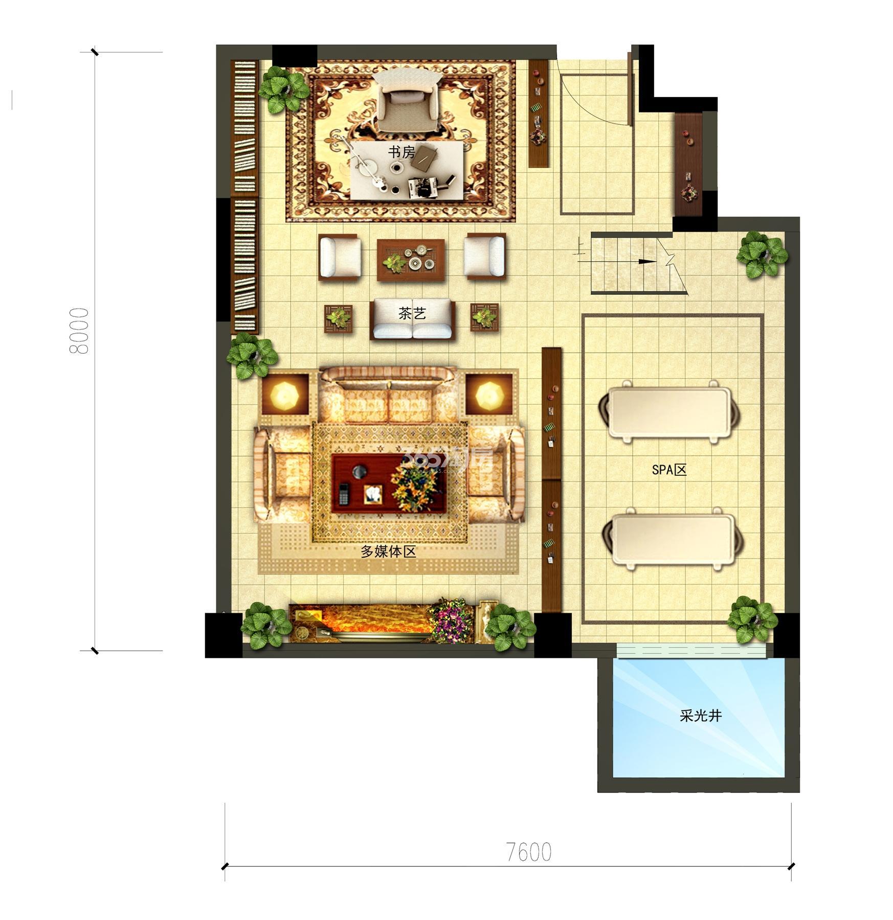 金地大运河府洋房边套地下室储藏间改造 E1户型 142㎡