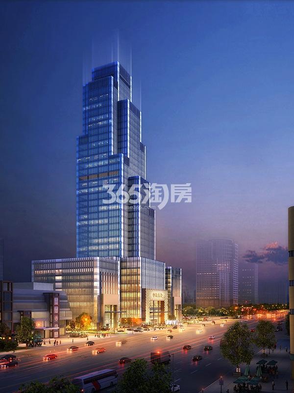 新合作中商大厦夜景