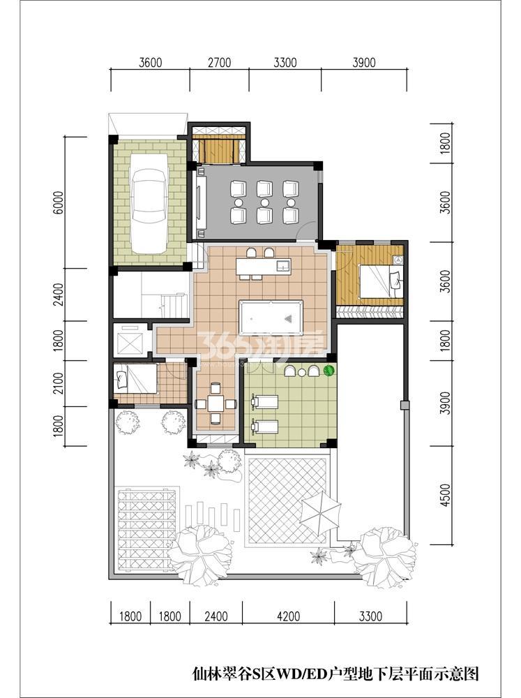 新湖仙林翠谷S区WD/ED户型图地下室