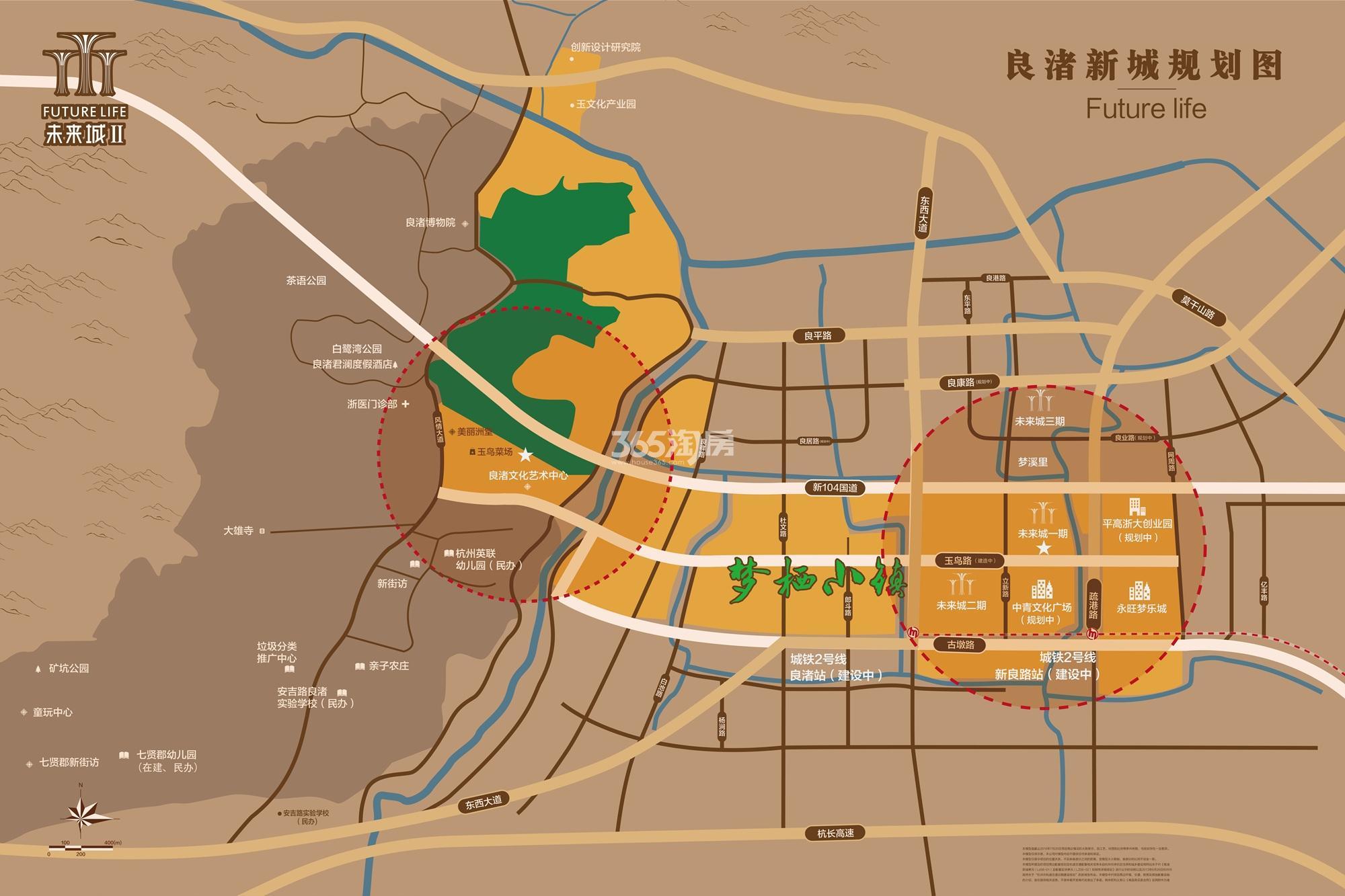 万科未来城梦溪里交通图