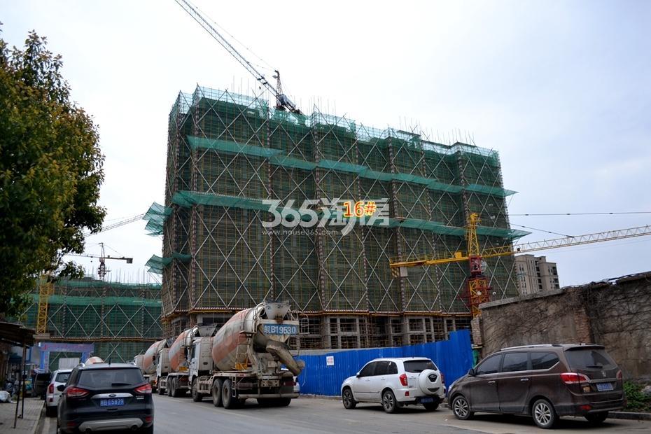 信达蓝湖郡工程进度(2017.3摄)