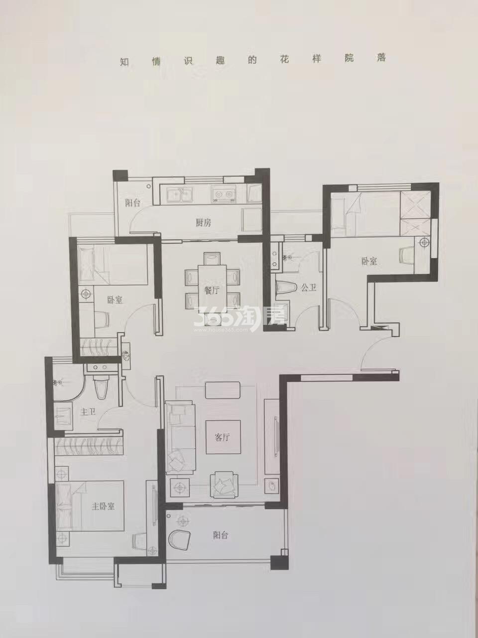 海伦春天15座2单元三室两厅一厨一卫108平米
