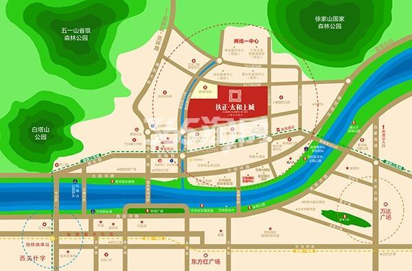 扶正·太和上城交通图