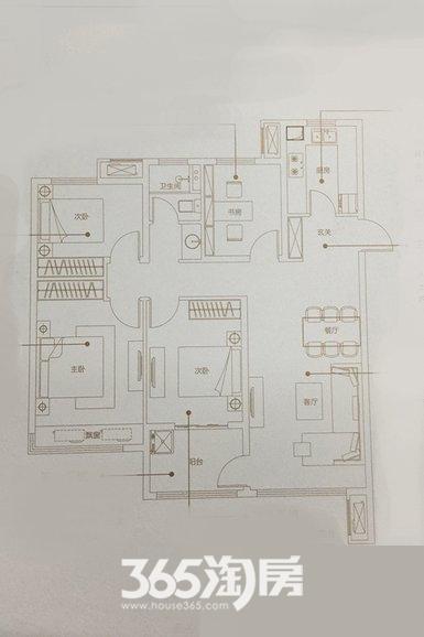 万科未来之光105㎡四室两厅A户型
