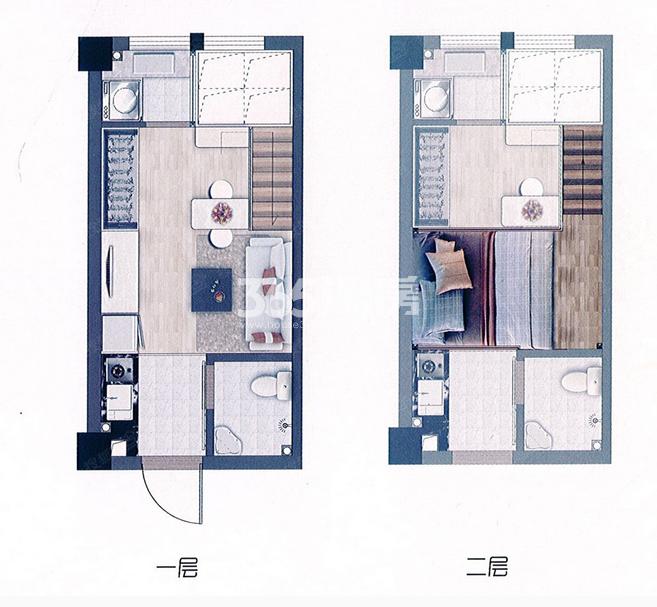 53平米生活大师公寓户型