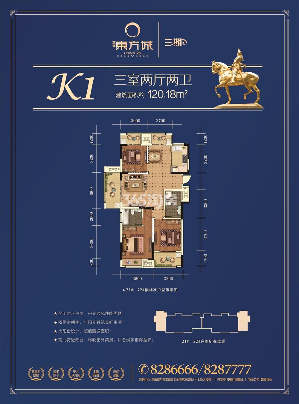 朝辉东方城三期K1户型图