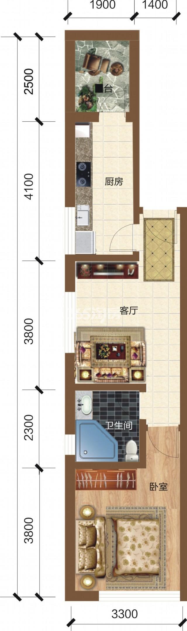 统一价房源6900元/㎡ 26-30楼层仅63套