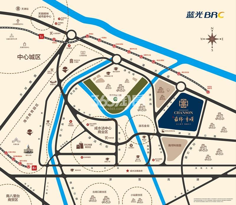蓝光雍锦香颂交通图
