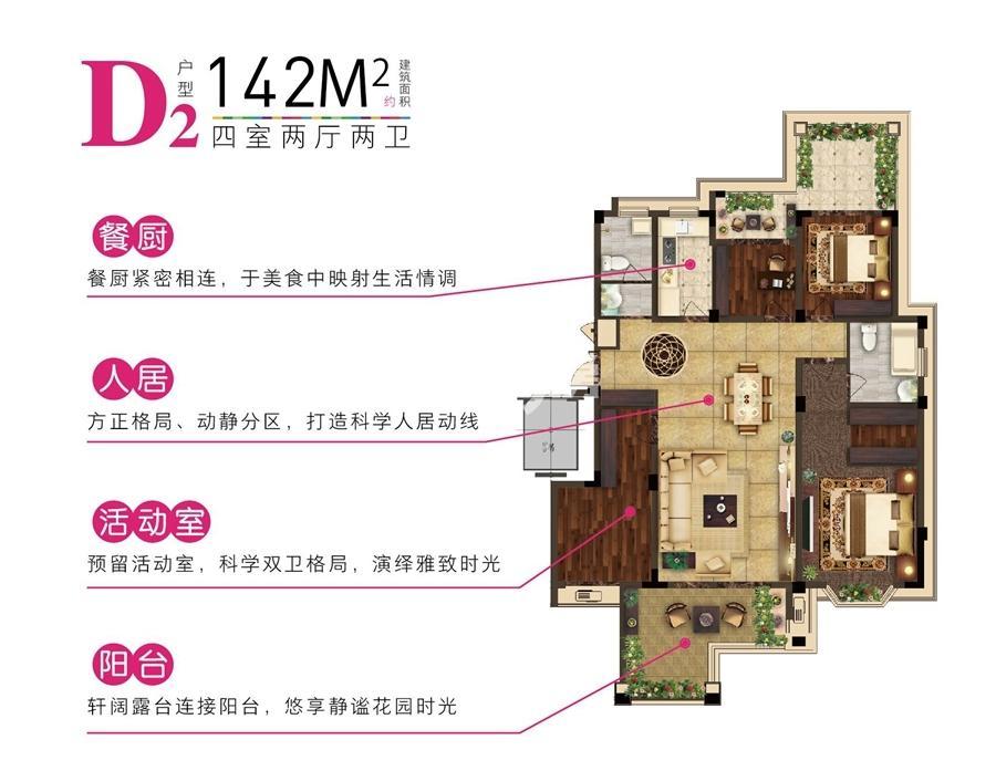 金晖罗兰小镇D2户型图