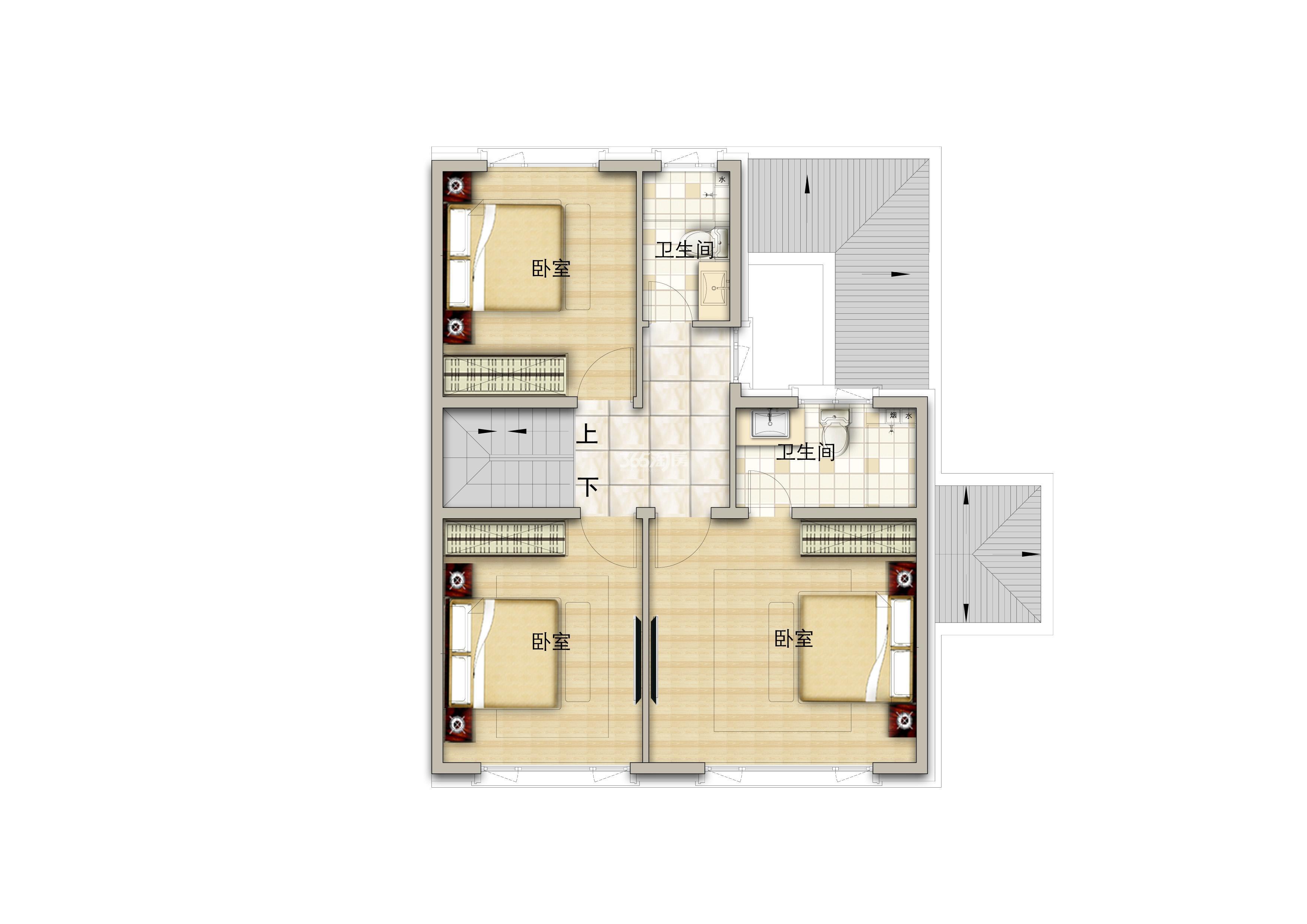 别墅190平米二层