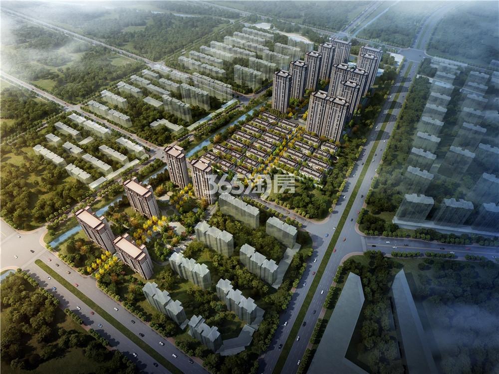 长江熙岸孔雀城鸟瞰图