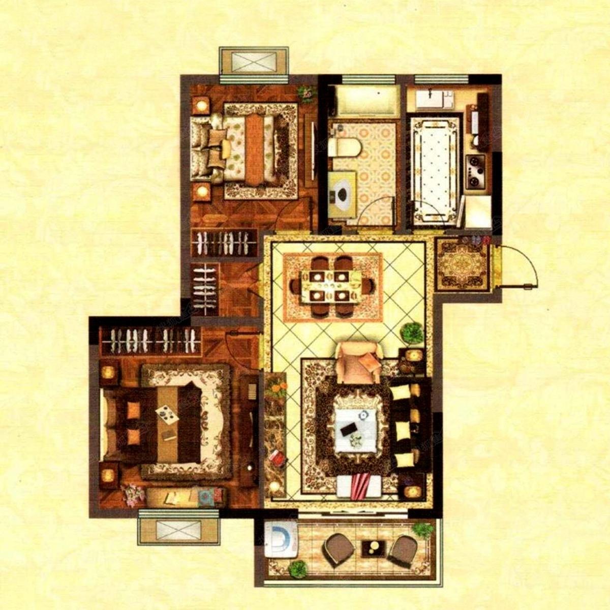 浦泰和天下90㎡两房